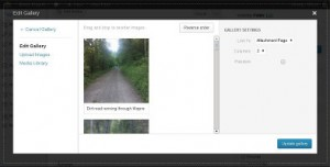 WordPress 3.5 Image Gallery